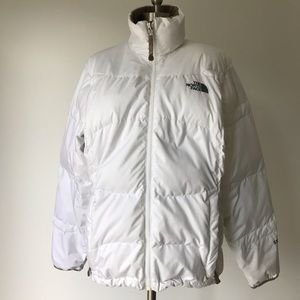 The North Face 550 down puffer jacket white Lg